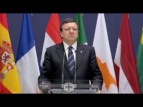 Barroso and Samaras give upbeat messages at launch of Greek EU presidency