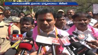 KTR before media after Narayankhed Election results, satires on TDP