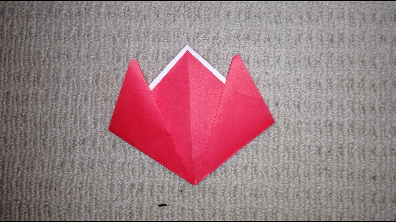 すべての折り紙 折り紙 チューリップ 作り方 : 折り紙 簡単 チューリップ 折り ...