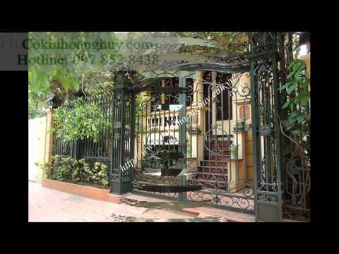 Cổng sắt đẹp thợ thi công cổng sắt giá rẻ tại công ty Hoàng Huy