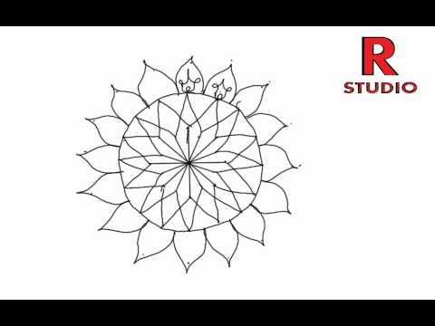Learn new rangoli designs (kolam) episode 125