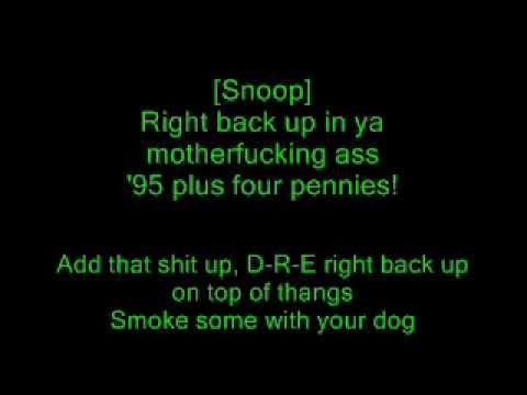 Dr. Dre feat. Snoop Dogg - Still Dre (Lyrics)