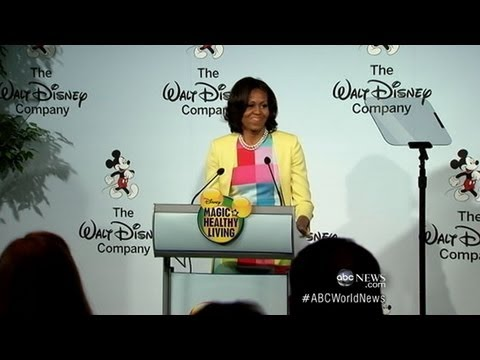 Michelle Obama, Disney on Cutting Junk Food Ads