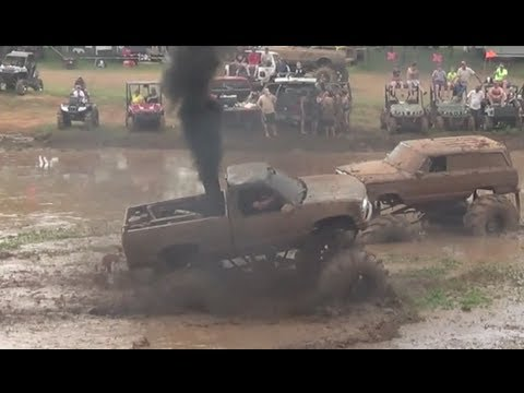 World's Baddest Chevy with a Cummins! Rollin Coal! Trucks Gone Wild Colfax LA Mudfest Dodge Duramax
