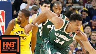 Golden State Warriors vs Milwaukee Bucks Full Game Highlights | 11.08.2018, NBA Season