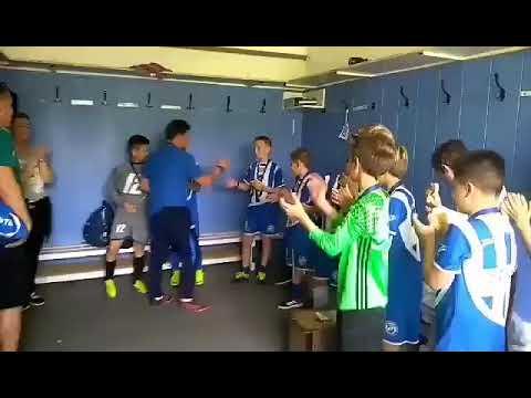 I. DAC Utánpótlás Kupa - Játékosok üdvözlik az edzőt (2019.05.19)