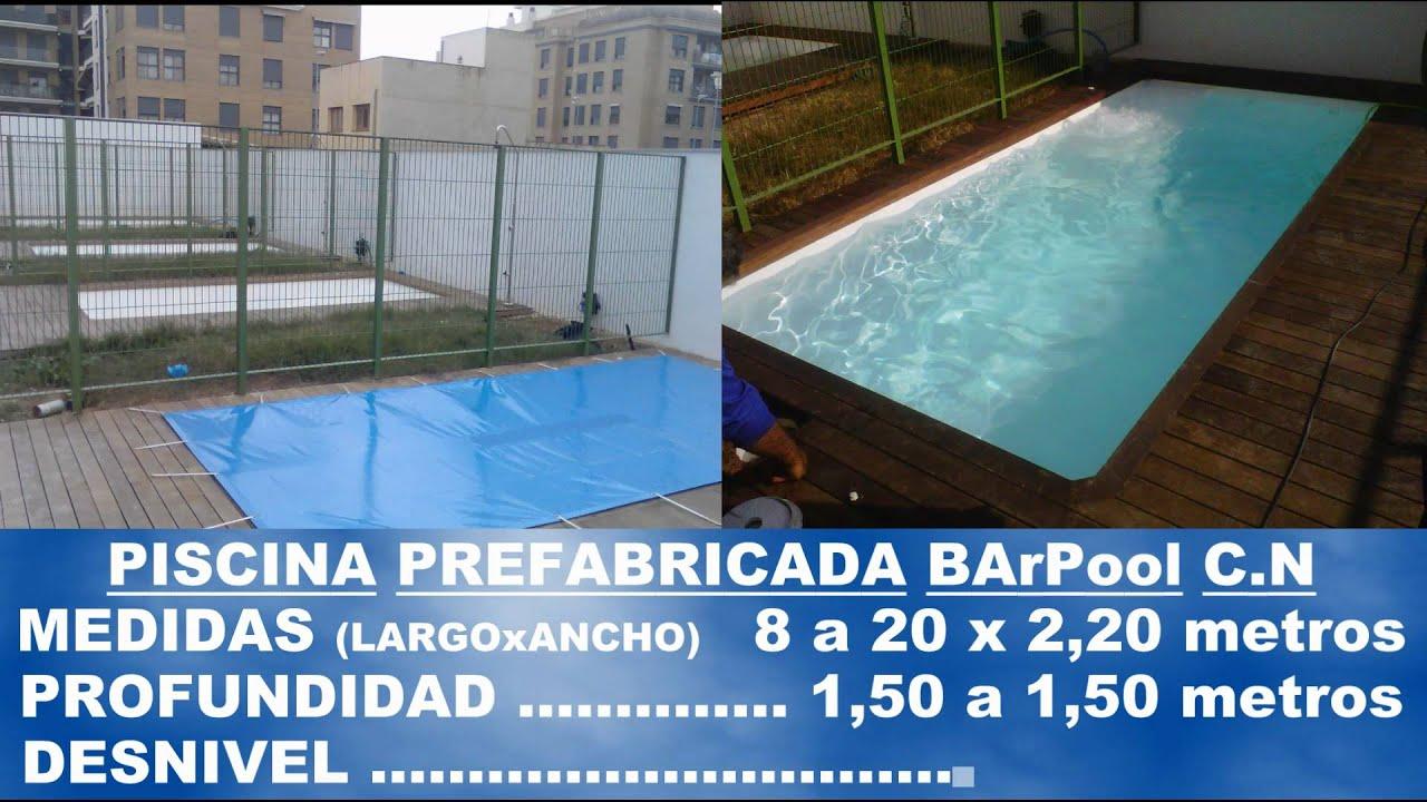 Barpool piscinas prefabricadas fibra cat logo general de for Piscinas hinchables grandes precios