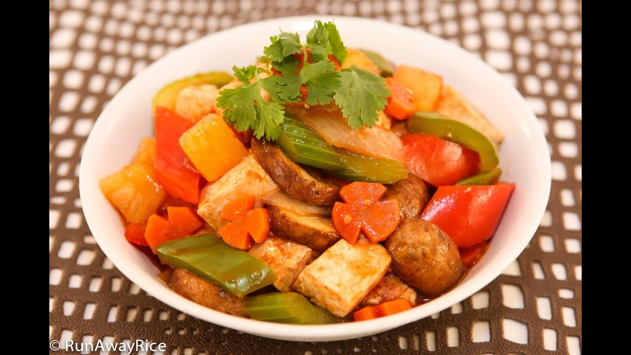 Sweet and Sour Tofu Stir Fry (Dau Hu Xao Sot Chua Ngot) - YouTube