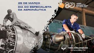 A Força Aérea Brasileira (FAB) preparou uma homenagem ao Dia do Especialista da Aeronáutica e aos 80 anos da Escola de Especialistas de Aeronáutica (EEAR), comemorados em 25 de março. A EEAR e os militares que passam por ela contribuem para a atuação da Força Aérea em especialidades essenciais para o desenvolvimento do País.