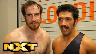 The Vaudevillains celebrate becoming No 1 Contenders