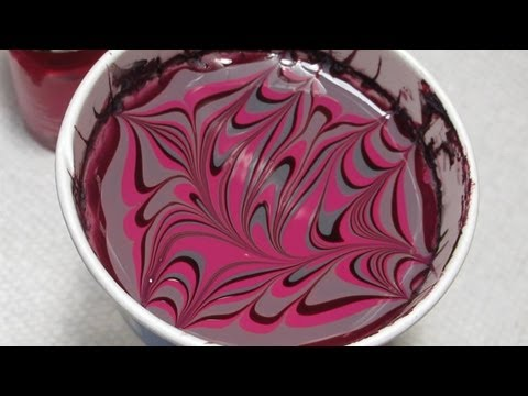 Nail Art Tutorial (Water Marble March 2013 #7) - Nail Designs Video