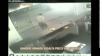 Ladr�o amea�a funcion�rios e assalta posto de combust�veis em Carea�u