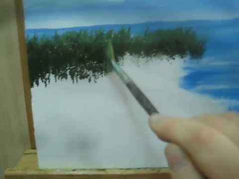 How To Paint Tree Reflections In Water Using Acrylics