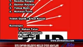 ISTE CHPNIN BELEDIYE MECLIS UYESI ADAYLARI