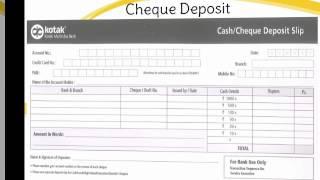 cheque deposit slip