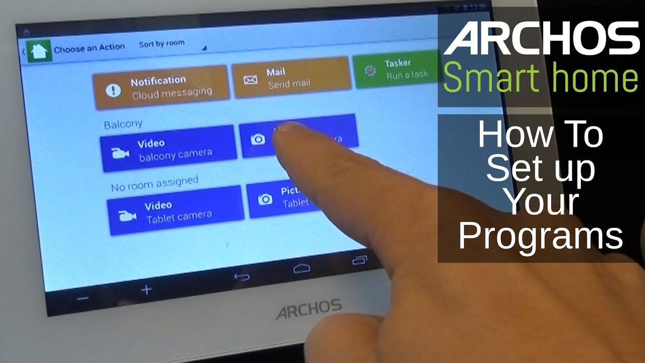 archos smart home how to set up your programs youtube. Black Bedroom Furniture Sets. Home Design Ideas