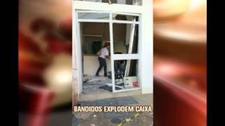 Bandidos explodem caixa eletr�nico pra�a central de Confins