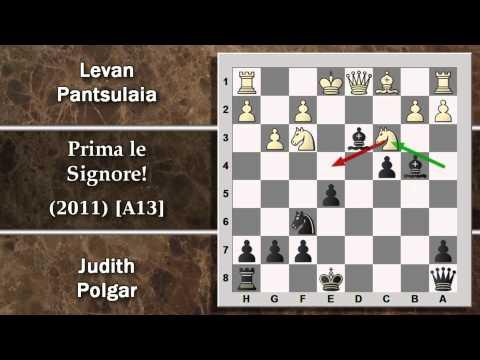 Partite Commentate di Scacchi 55- Pantsulaia vs Polgar - Prima le signore! - 2011 [A13]