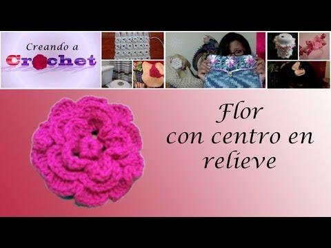 Chal Tejido Con Agujas Circulares Y Flores En Crochet De Adorno ...