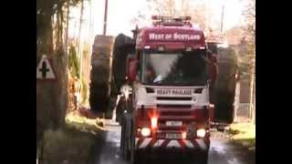 Real Heavy Haulage in the West moving a Komatsu PC3000 west of scotland heavy haulage view on youtube.com tube online.