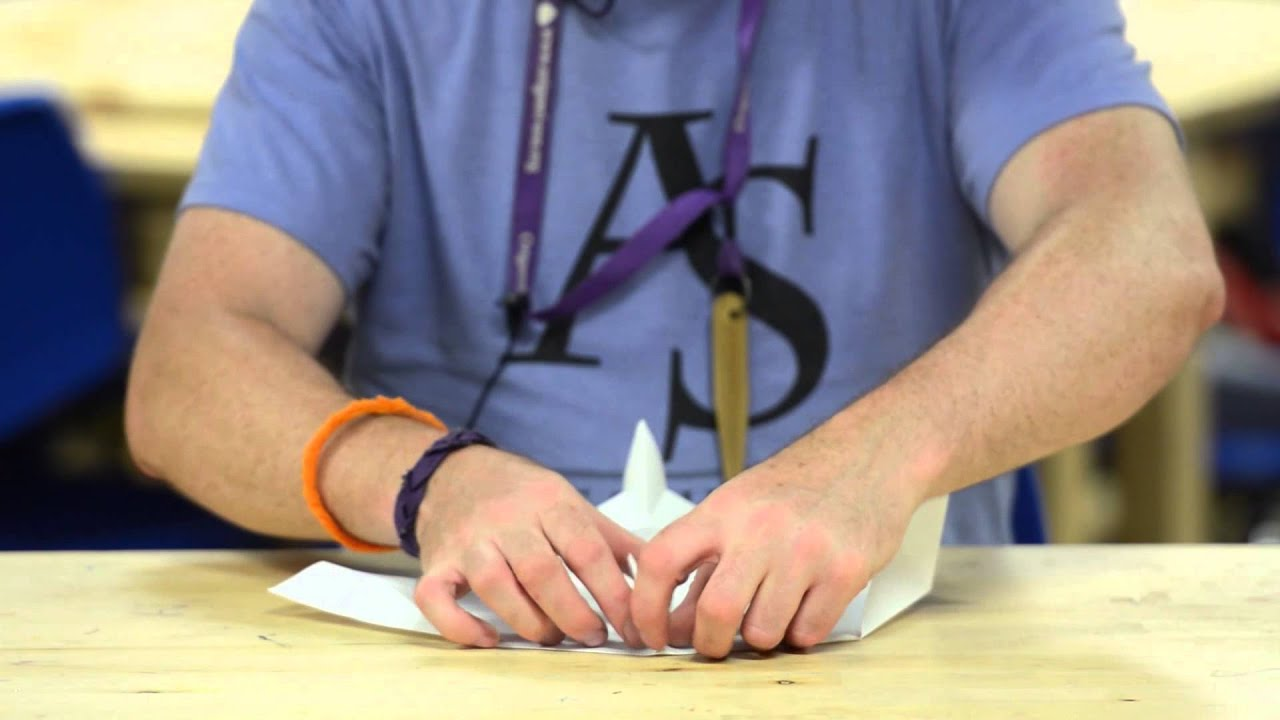 how to make an origami parachute