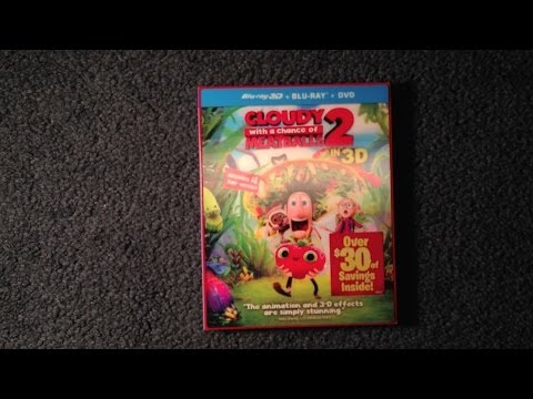 Unboxing Cloudy with a Chance of Meatballs 2 Blu-Ray 3D/Blu-Ray/DVD