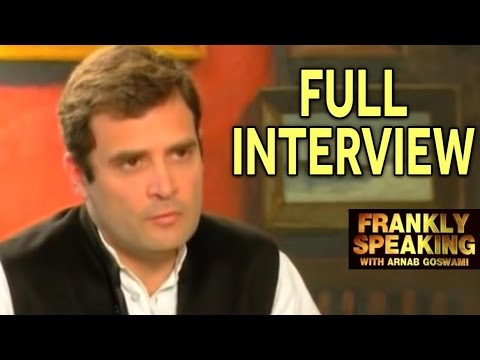 Frankly Speaking with Rahul Gandhi - Full Episode