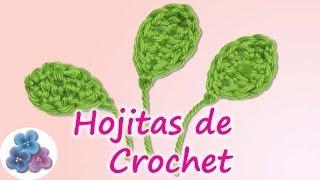 Como Hacer Hojas Para Flores De Crochet *Easy Crochet Leaf