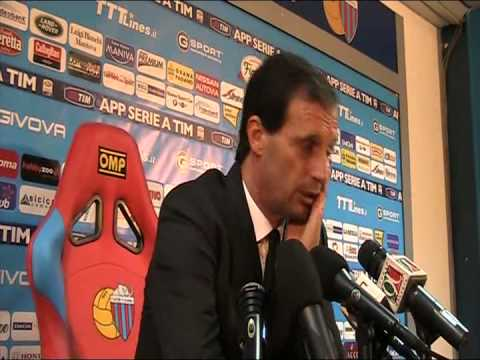 Conferenza integrale Massimiliano Allegri - Catania-Milan 3-1 - 01/12/2013