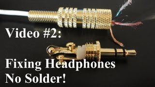no solder how to repair or fix headphones youtube rh youtube com 1 8 Jack Diagram Stereo Jack Pinout