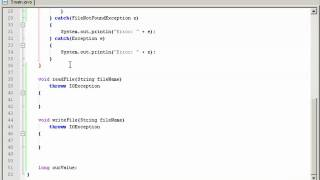 Java tutorial 6 - java input out (io) file reader / writer PART ONE (of 2) view on youtube.com tube online.
