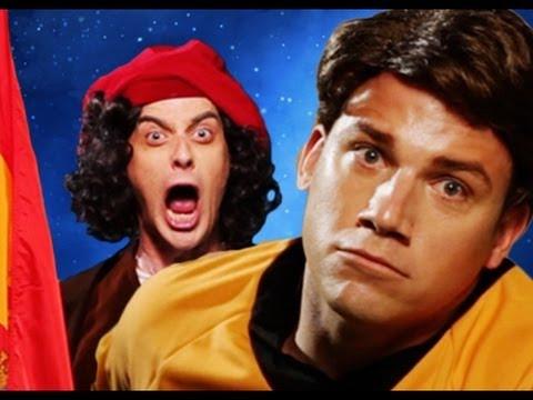... trong video Columbus vs Captain Kirk. Epic Rap Battles of History #14
