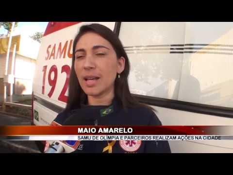 29/05/2019 - SAMU de Olímpia com apoio de parceiros realiza ação Maio Amarelo