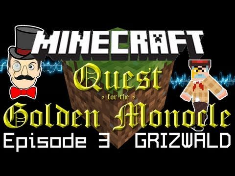 Minecraft Adventure: Professor Grizwald and the Redstone Keys - Quest for the Golden Monocle PART 3!