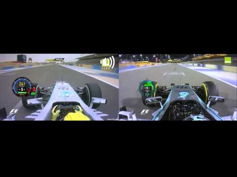 Nico Rosberg Pole Laps in Bahrain Comparison - 2013 vs 2014 - Pure Sound