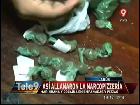 Narco-pizzería en Lanús