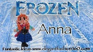 Rainbow Loom Princess Anna (Frozen) Figure/Charm How To