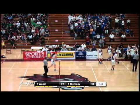 2013 CIF Northern Division V Girls Basketball Finals- Durham vs. Weed