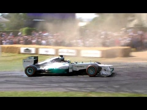 Lewis Hamilton in Mercedes F1 W03 | Festival of Speed 2014