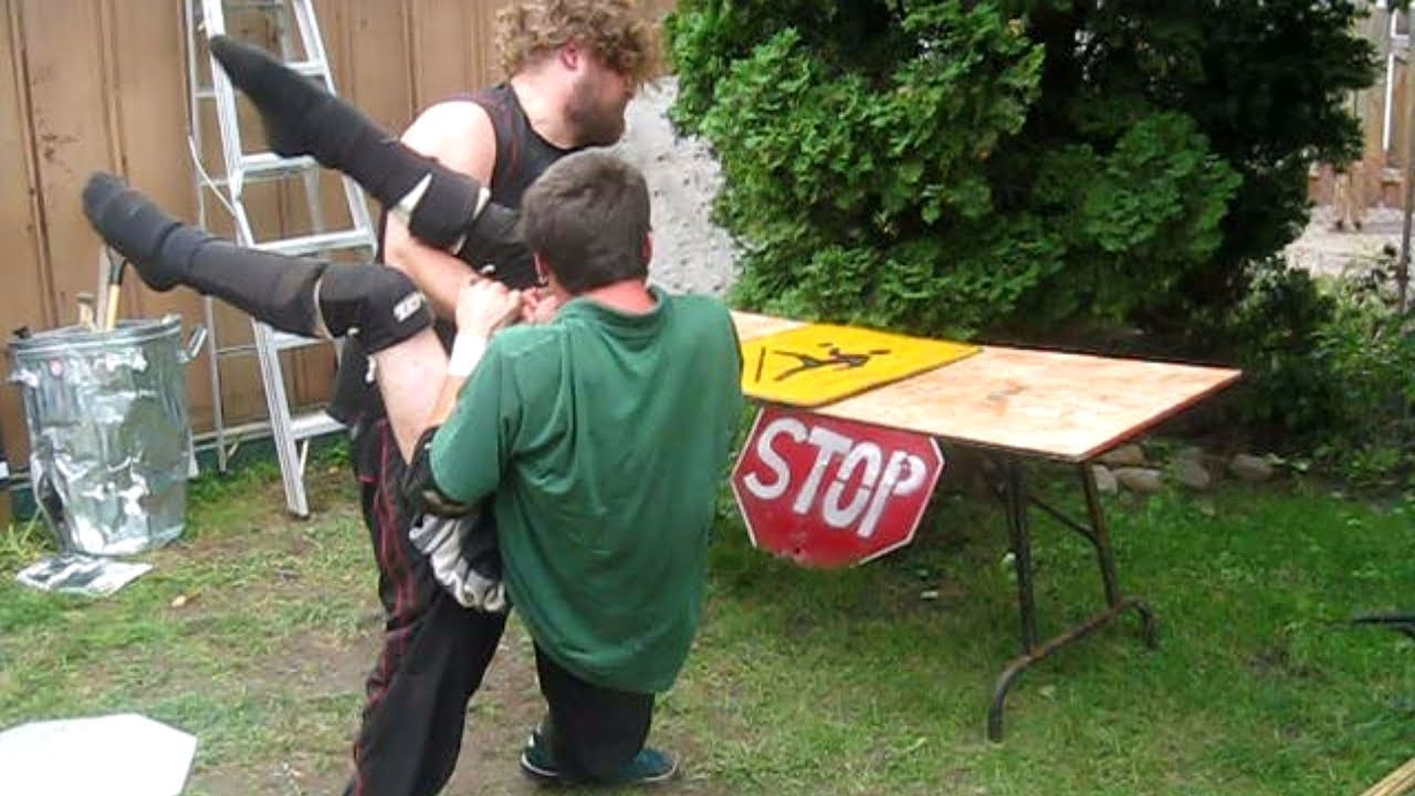 ric roberts vs devastator backyard wrestling match youtube