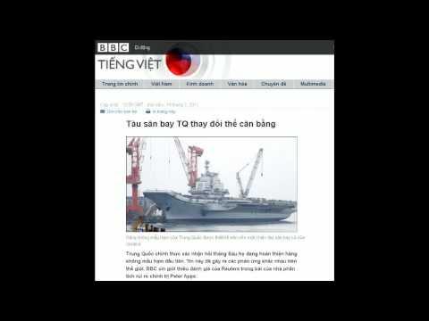 14-07-2011 - BBC Vietnamese - Tàu sân bay TQ thay đổi thế cân bằng