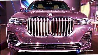 2019 BMW X7 xDrive50i - Exterior and  Interior Walkaround - Debut 2018 LA Auto Show