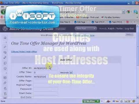 Wordpress One-Time-Offer Plugin