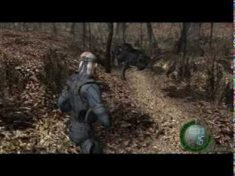 resident evil 4 mod - MGS4 OLD SNAKE & WEREWOLF