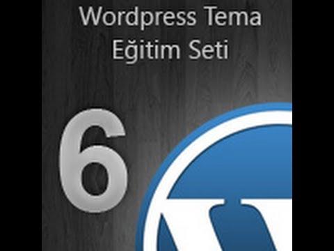 WordPress Tema Eğitim Seti -- 06-Sayfalama ve Footer.php [İsmail Bayram]