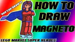 How To Draw Magneto From Lego Marvel Super Heroes