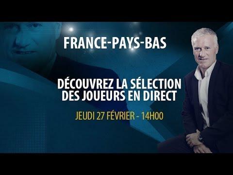 Jeudi 27 : Conférence de Didier Deschamps en direct  (14h00)