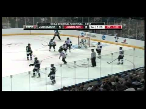 Union College Hockey vs Michigan State - NCAA Tournament 2012