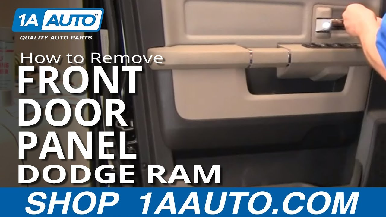 How To Remove Install Front Interior Door Panel 2009 2012