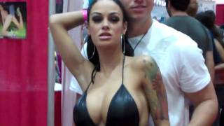 Angelina Valentine poses at Adultcon 2010 view on youtube.com tube online.